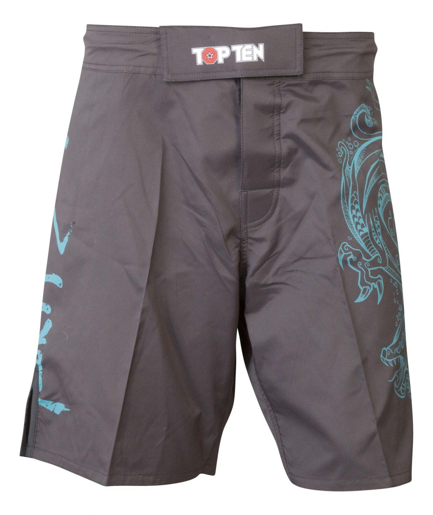 """TOP TEN MMA MMA broekje """"Dragon"""" Zwart - Groen"""