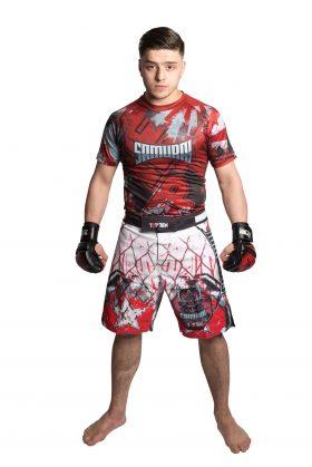 "MMA broekje ""Samurai I"" Wit - rood"