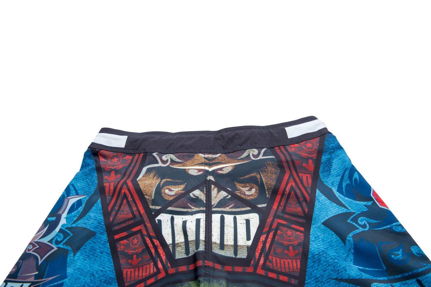 """TOP TEN MMA MMA broekje """"Samurai II"""" Blauw - rood"""
