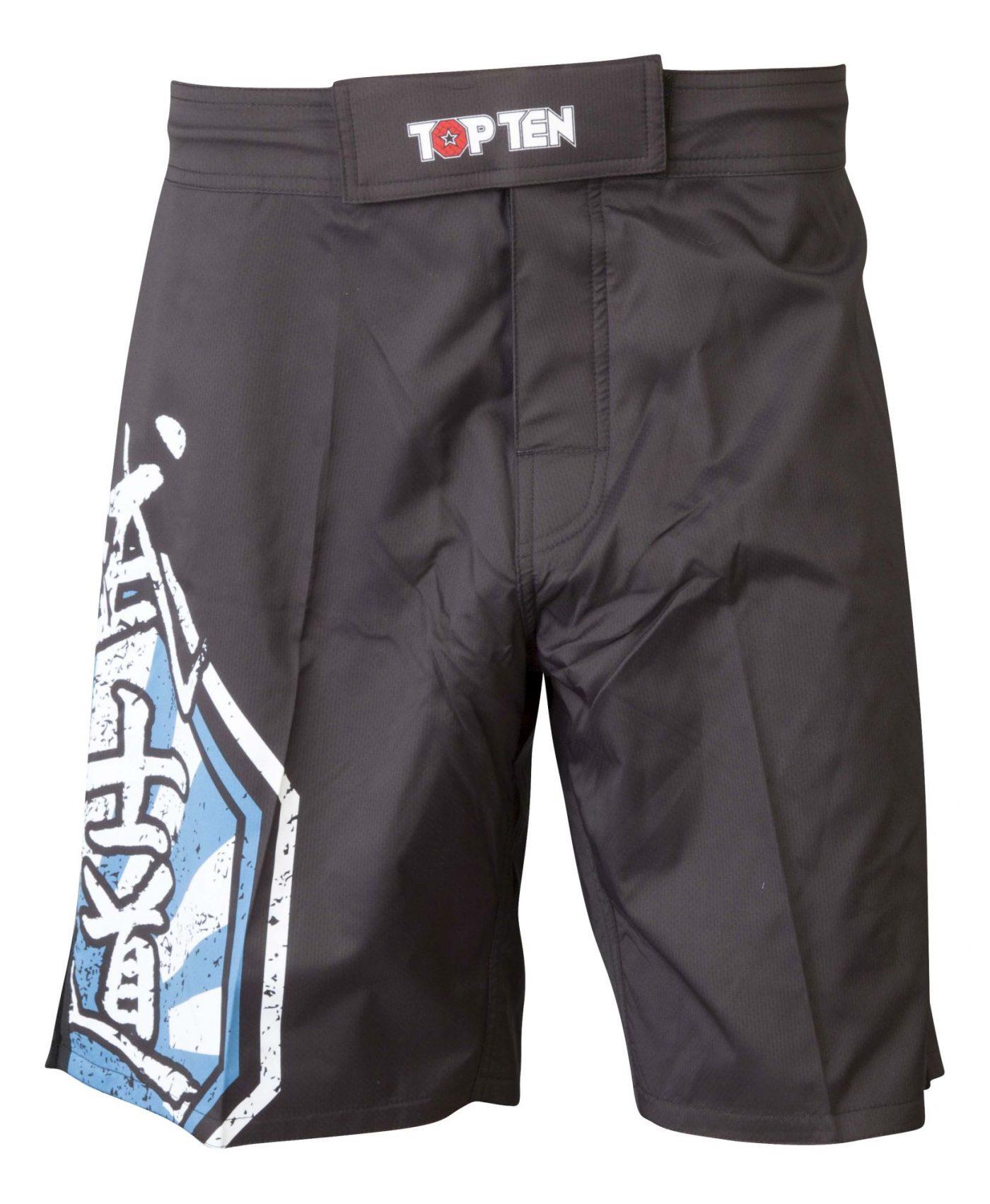 "MMA broekje ""Sunrise"" Zwart - Blauw"