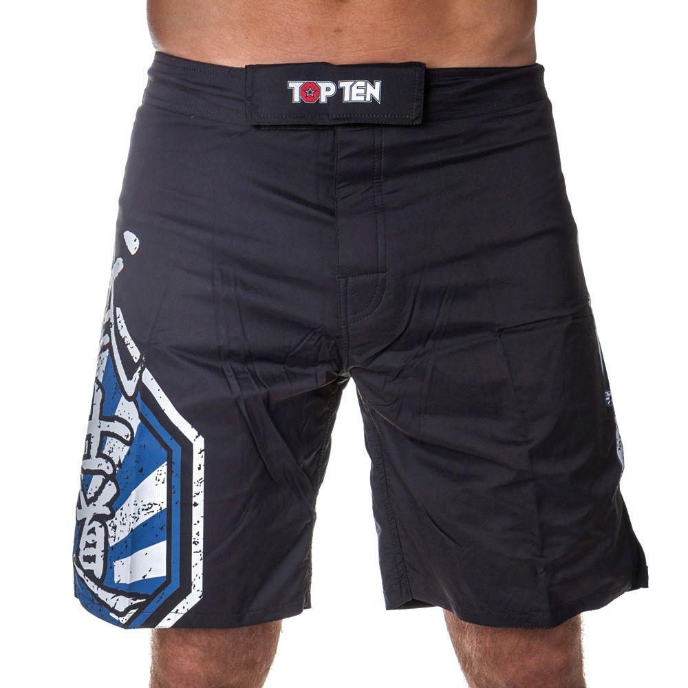 "TOP TEN MMA MMA broekje ""Sunrise"" Zwart - Blauw"