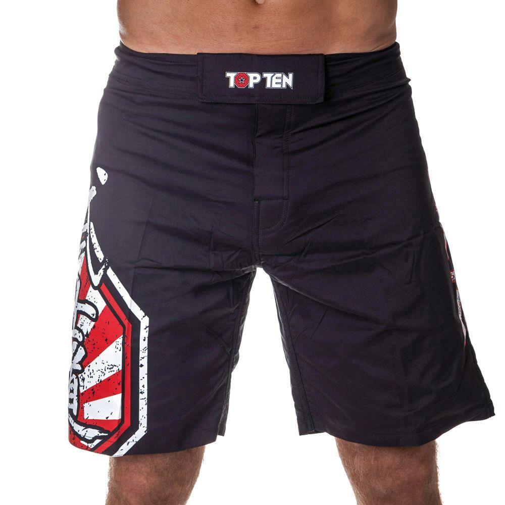 """TOP TEN MMA MMA broekje """"Sunrise"""" Zwart - rood"""