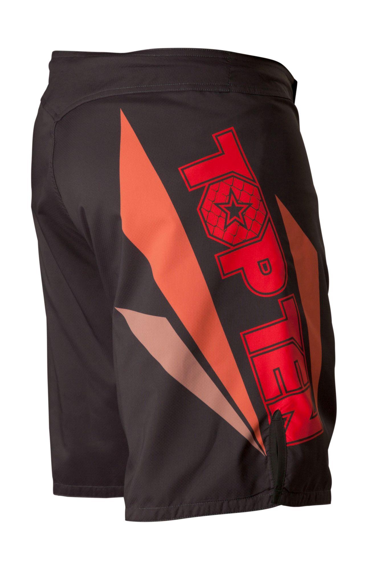 """TOP TEN MMA MMA broekje """"Triangle"""" Zwart - rood"""
