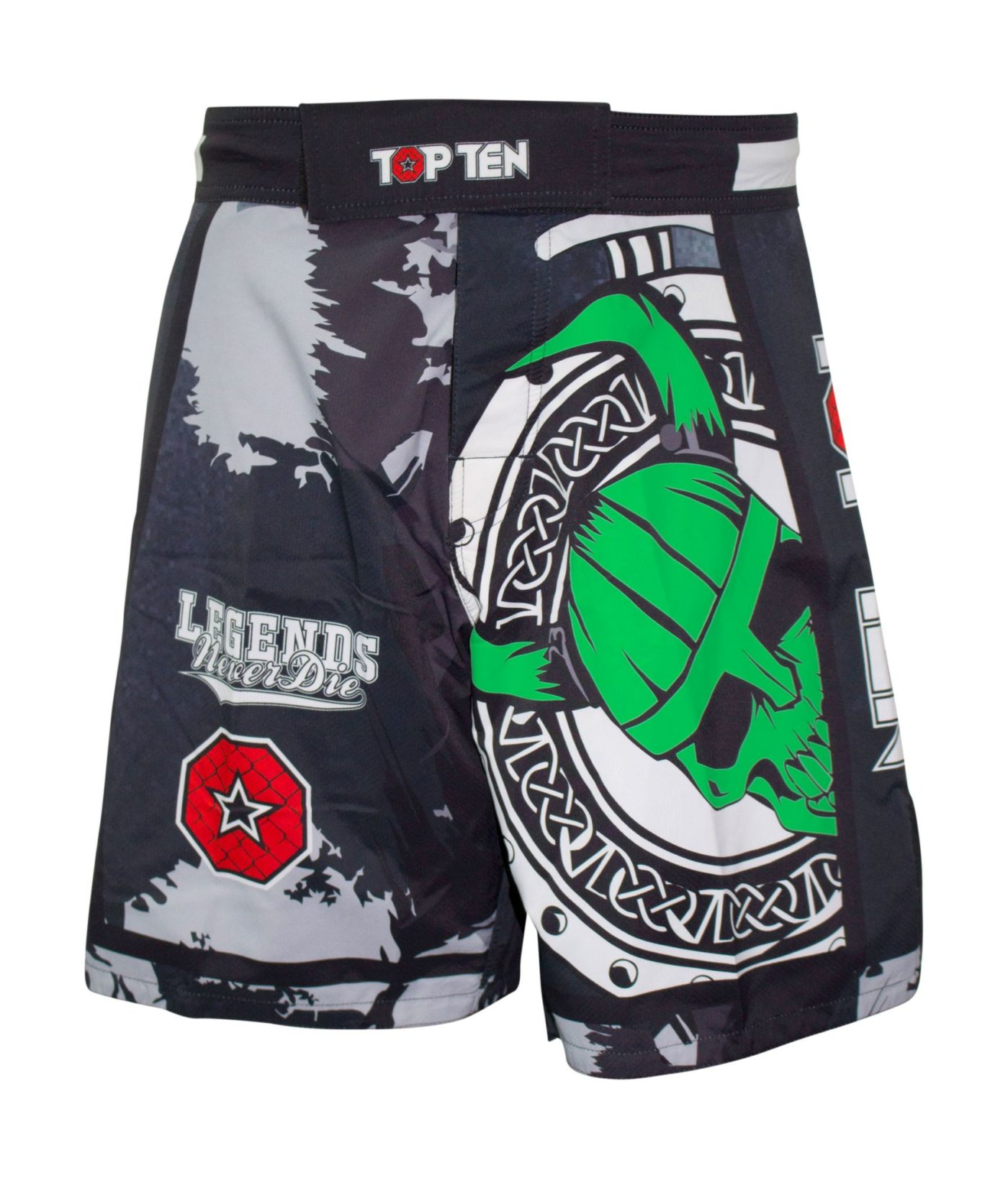 """MMA broekje """"Vikings"""" Zwart - Groen"""
