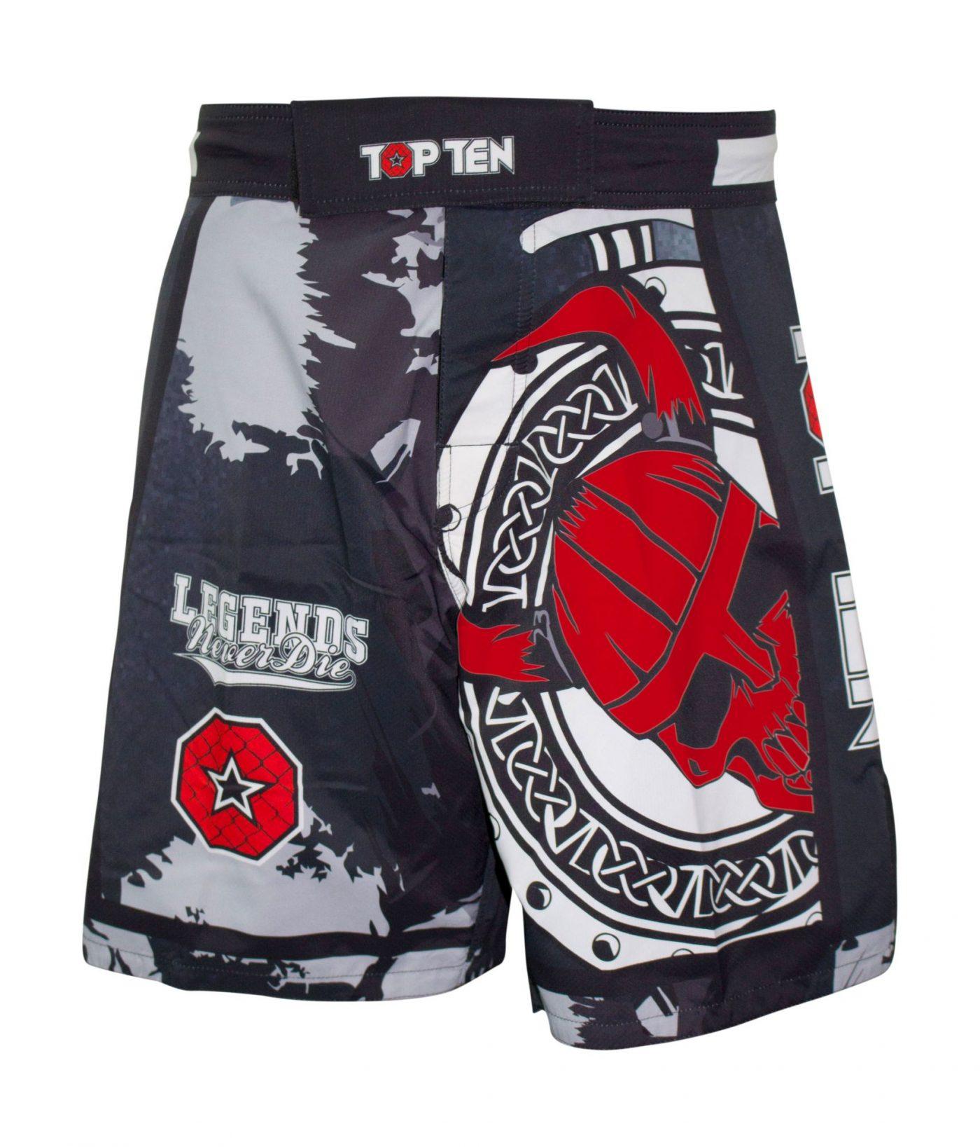 """TOP TEN MMA MMA broekje """"Vikings"""" Zwart - rood"""