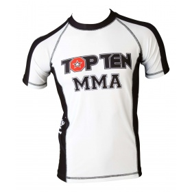 "TOP TEN MMA Rashguard ""It´s in the cage"" Wit - Zwart"