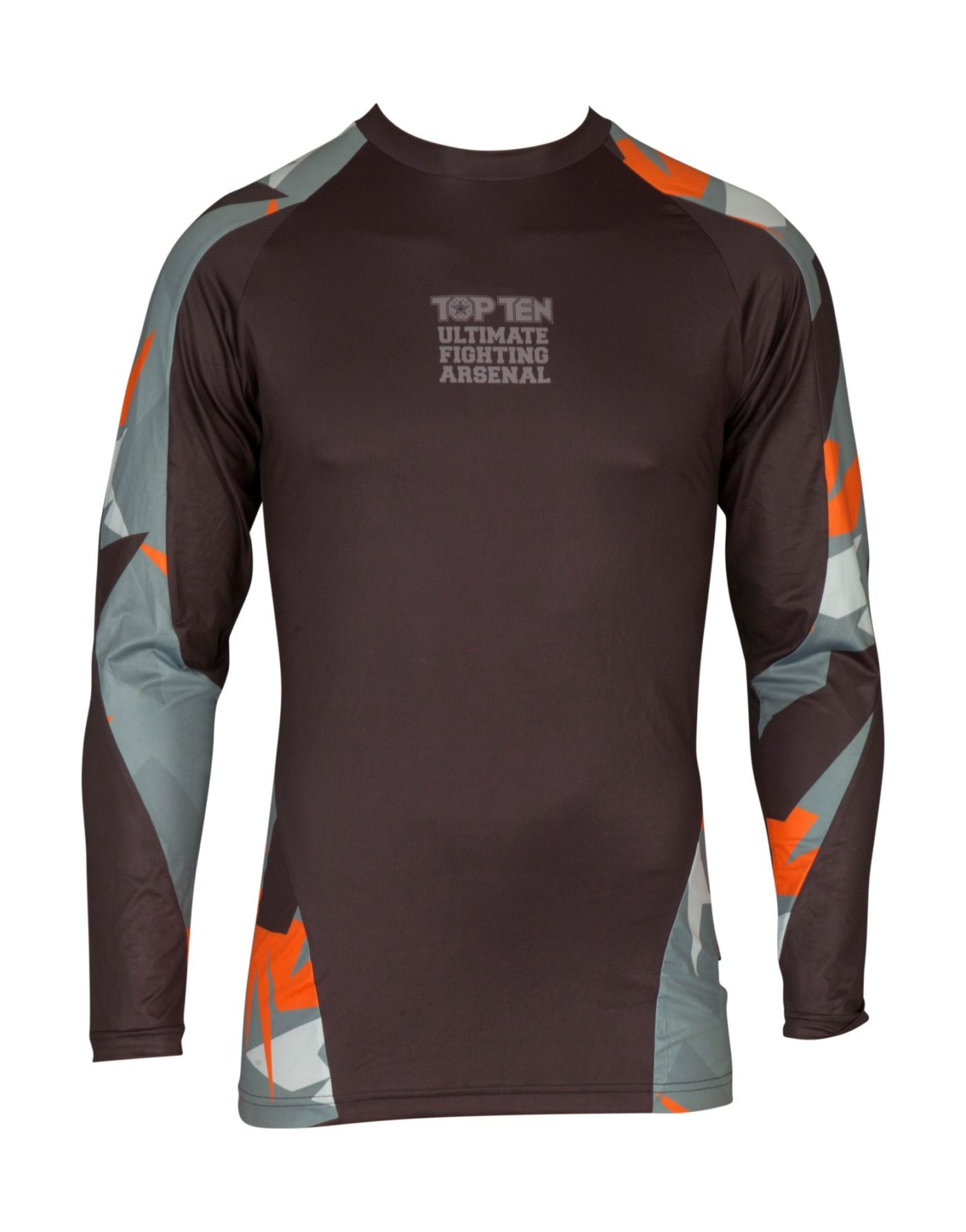 "Rashguard ""Jungle"" Grijs - Oranje"