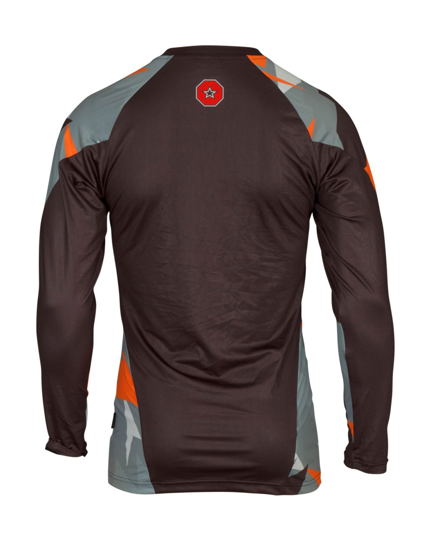"TOP TEN MMA Rashguard ""Jungle"" Grijs - Oranje"