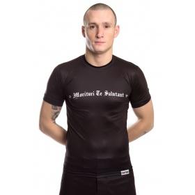 "TOP TEN MMA Rashguard ""Morituri Te Salutant"" (Zwart)"