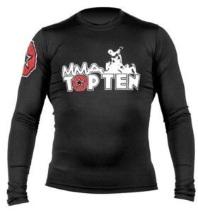 "TOP TEN MMA Rashguard ""UFA"" Zwart"