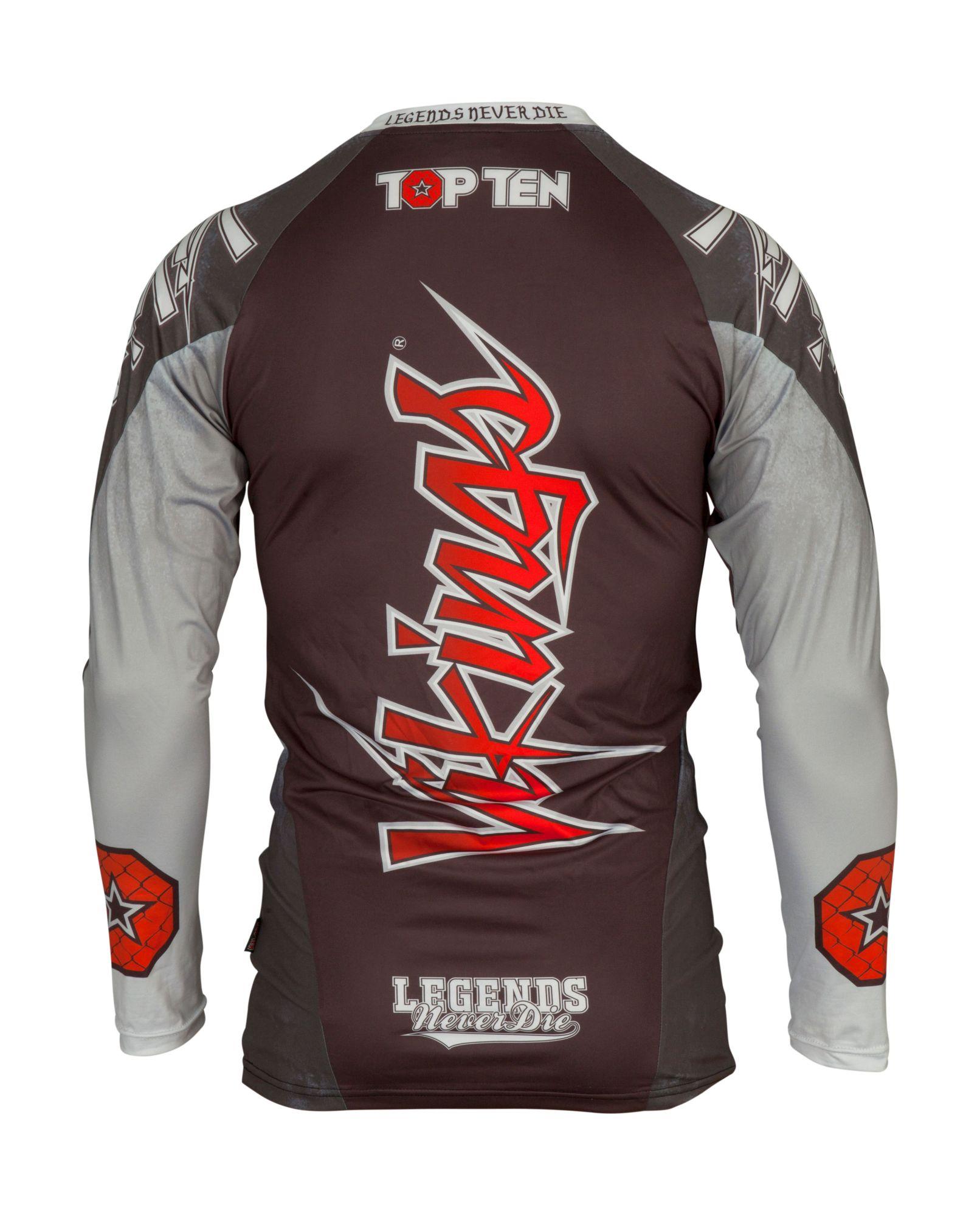 "TOP TEN MMA Rashguard ""Vikings"" Zwart"