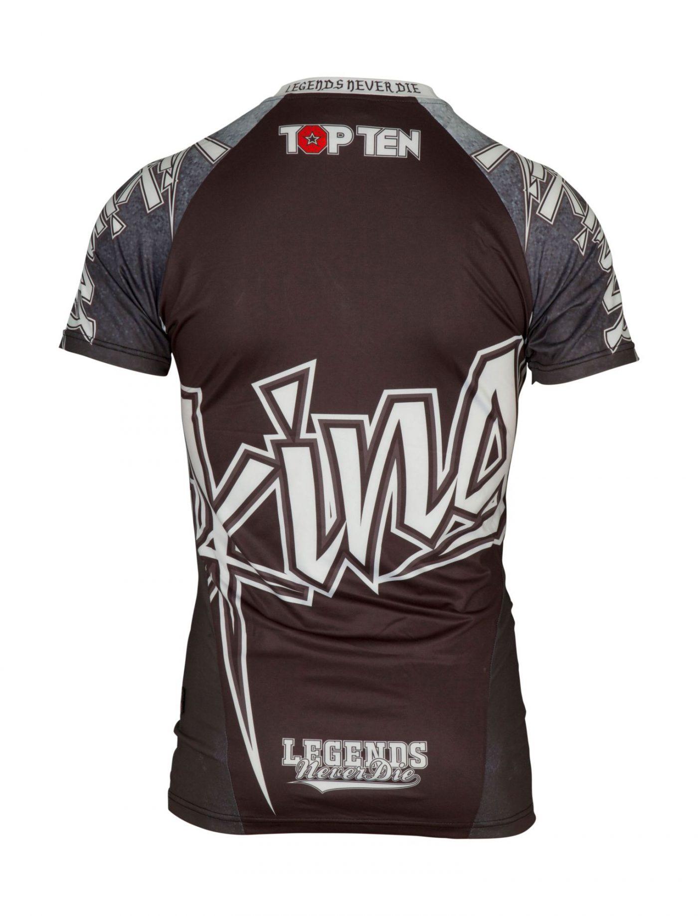"TOP TEN MMA Rashguard ""Vikings"" Zwart - Wit"