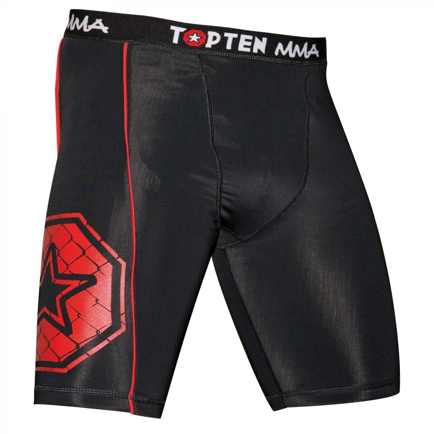 """TOP TEN MMA Compressiebroek """"MMA"""" Zwart"""