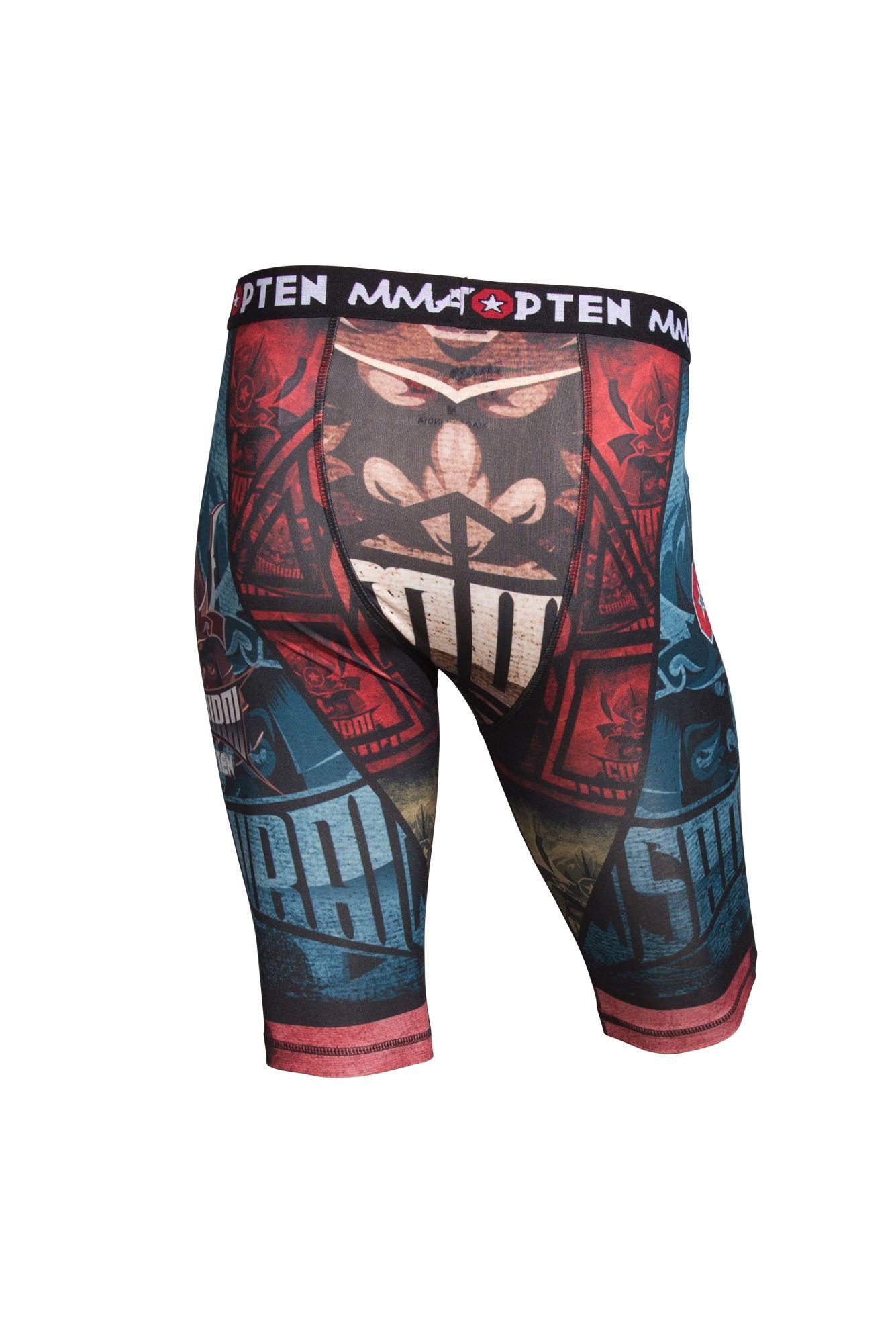 "TOP TEN MMA Compressiebroek ""Samurai I"" Blauw - rood"