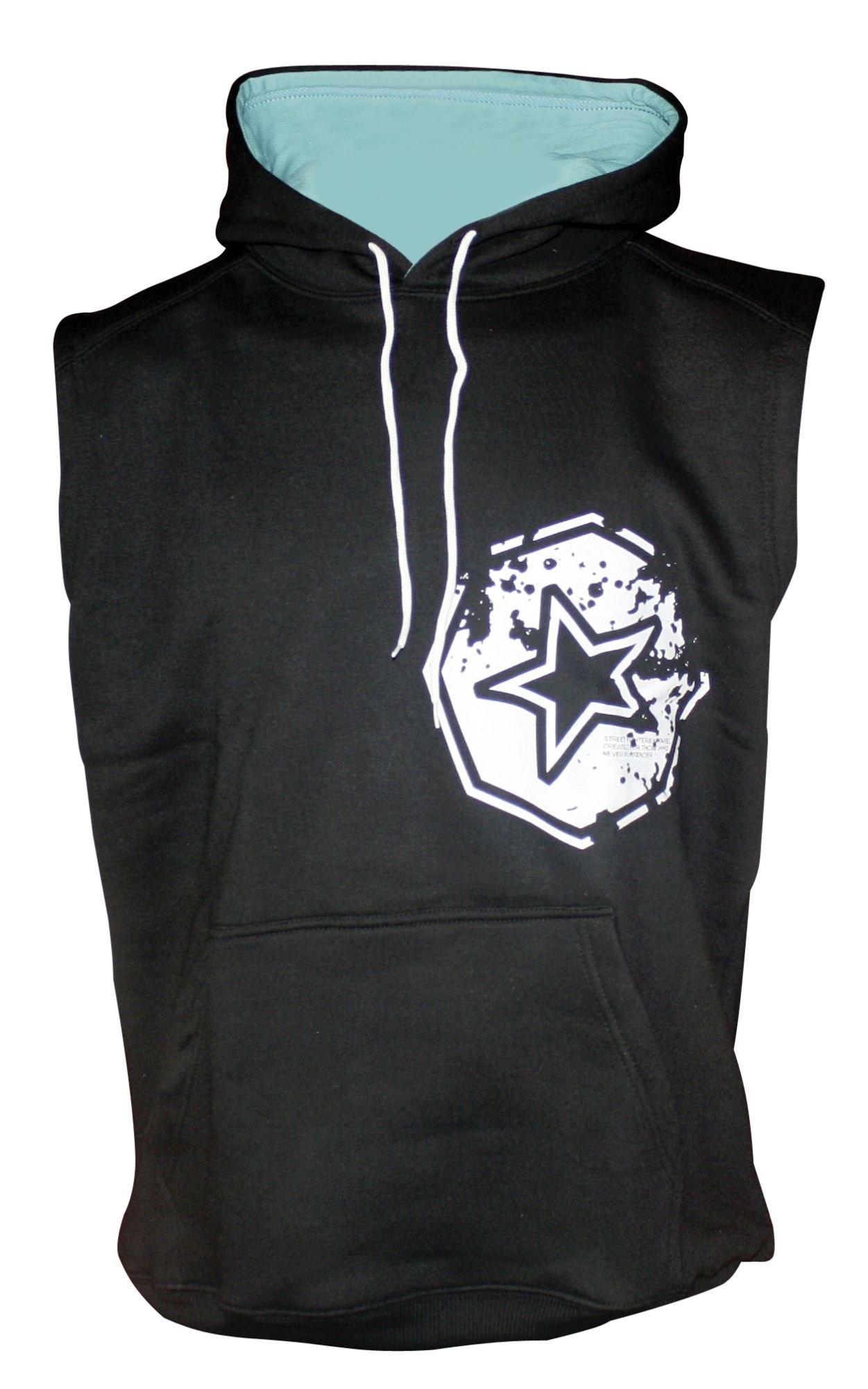 """TOP TEN MMA Mouwloos hoodie """"Warm Up"""" Zwart"""