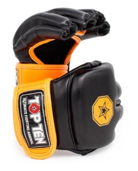 "MMA handschoenen ""Striking C-Type"" Zwart - Oranje"