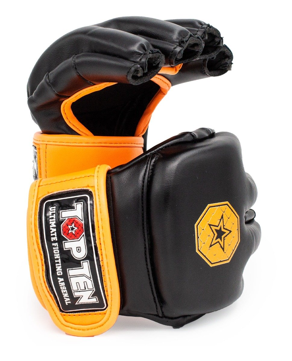"MMA handschoenen ""Striking C-Type"" Zwart - Oranje"