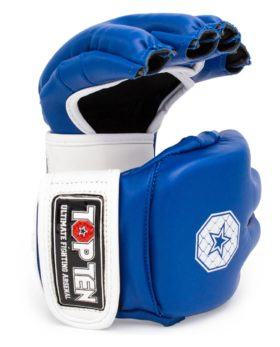 "MMA handschoenen ""Striking C-Type"" Blauw - Wit"
