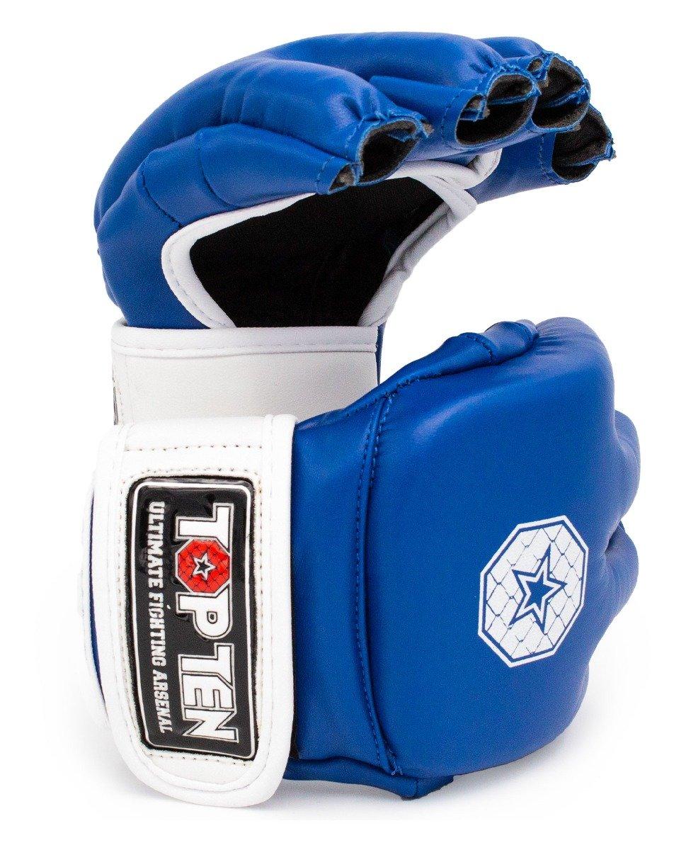 """TOP TEN MMA MMA handschoenen """"Striking C-Type"""" Blauw - Wit"""