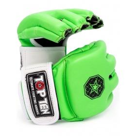 """TOP TEN MMA MMA handschoenen """"Striking C-Type"""" Groen - Wit"""