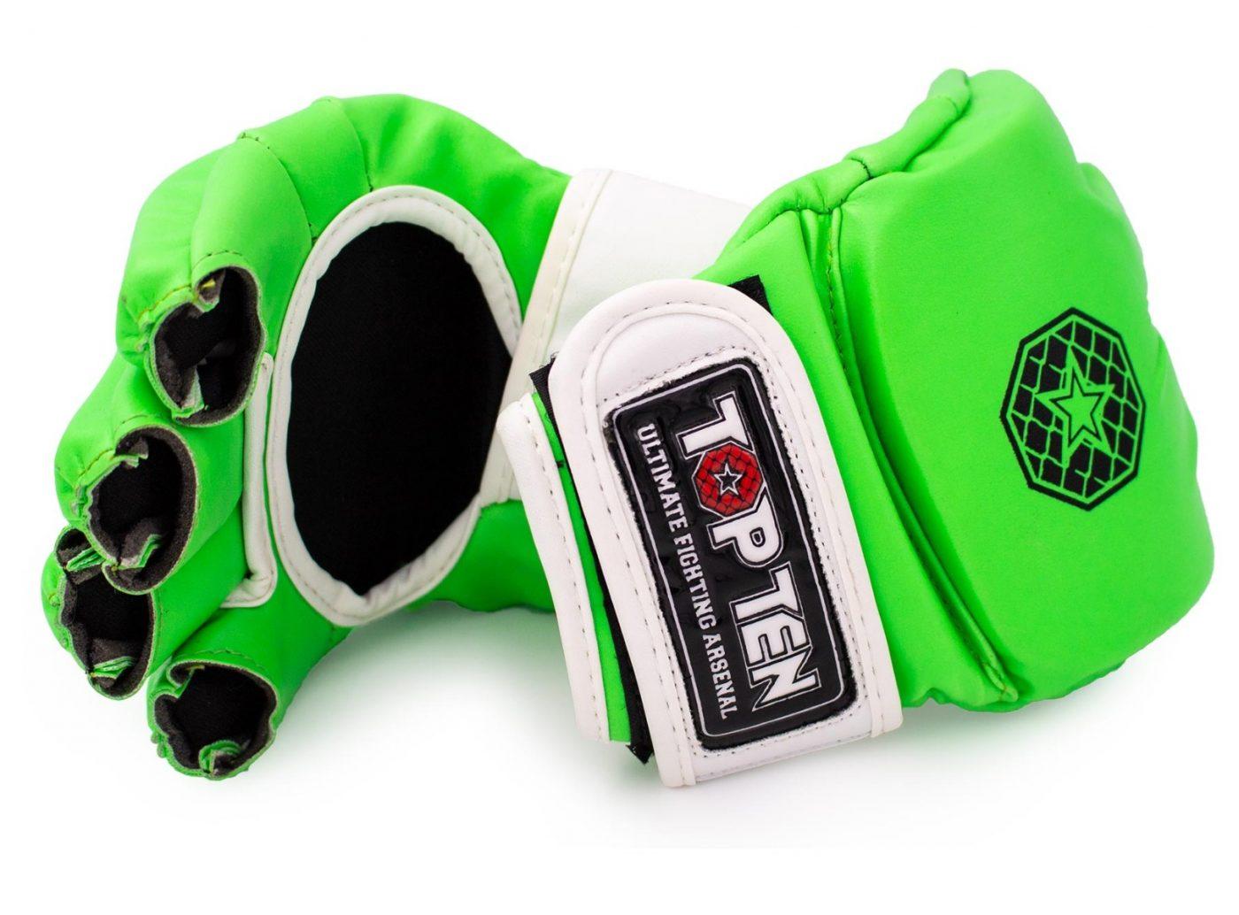 """TOP TEN MMA MMA handschoenen """"Striking C-Type"""" Zwart - Oranje"""