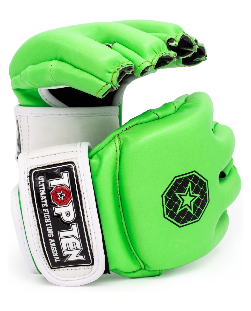"TOP TEN MMA MMA handschoenen ""Striking C-Type"" Groen - Wit"