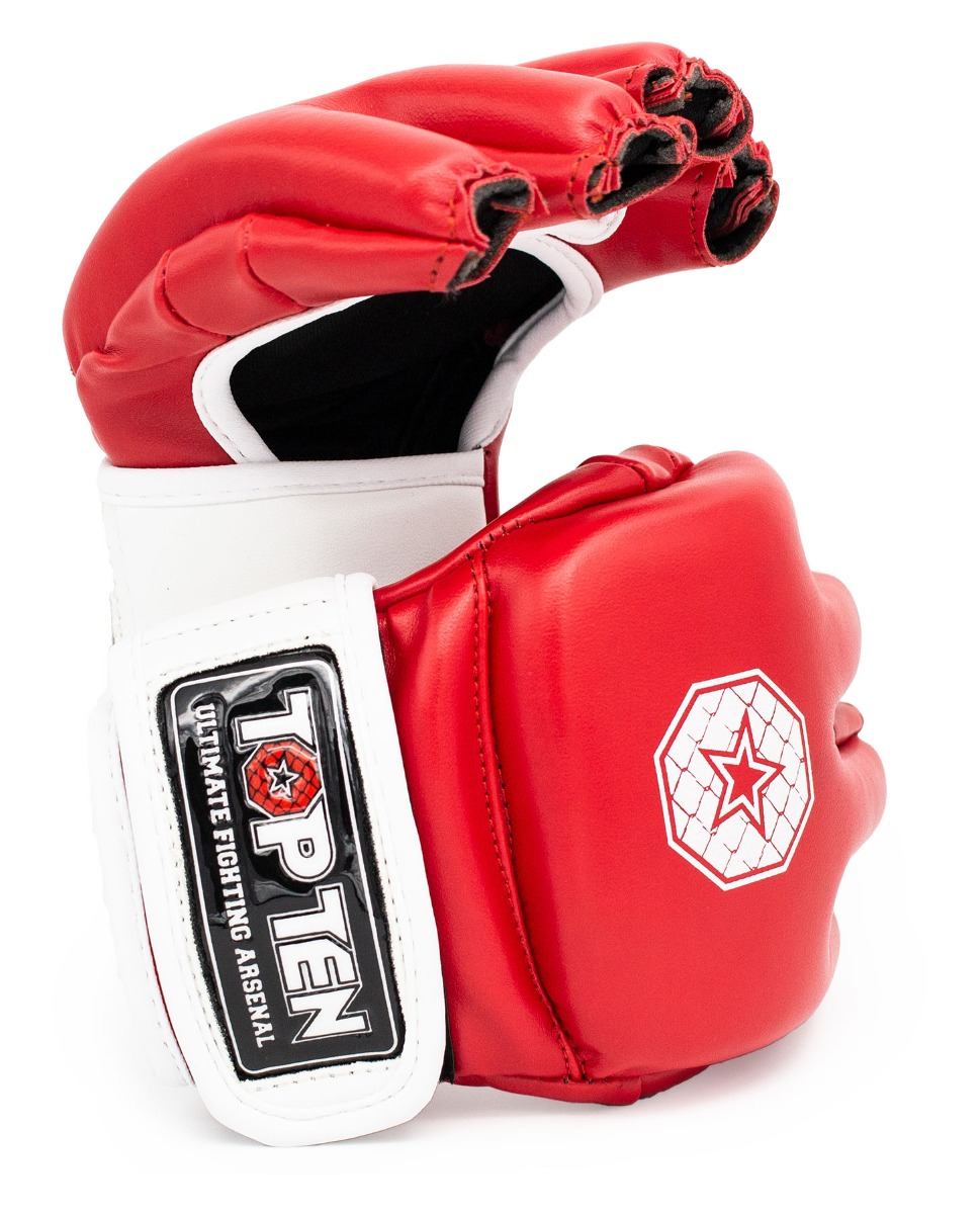 "MMA handschoenen ""Striking C-Type"" Rood - Wit"