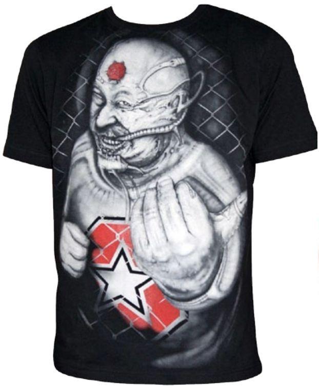 """TOP TEN MMA T-Shirt """"Fatman"""" Zwart"""