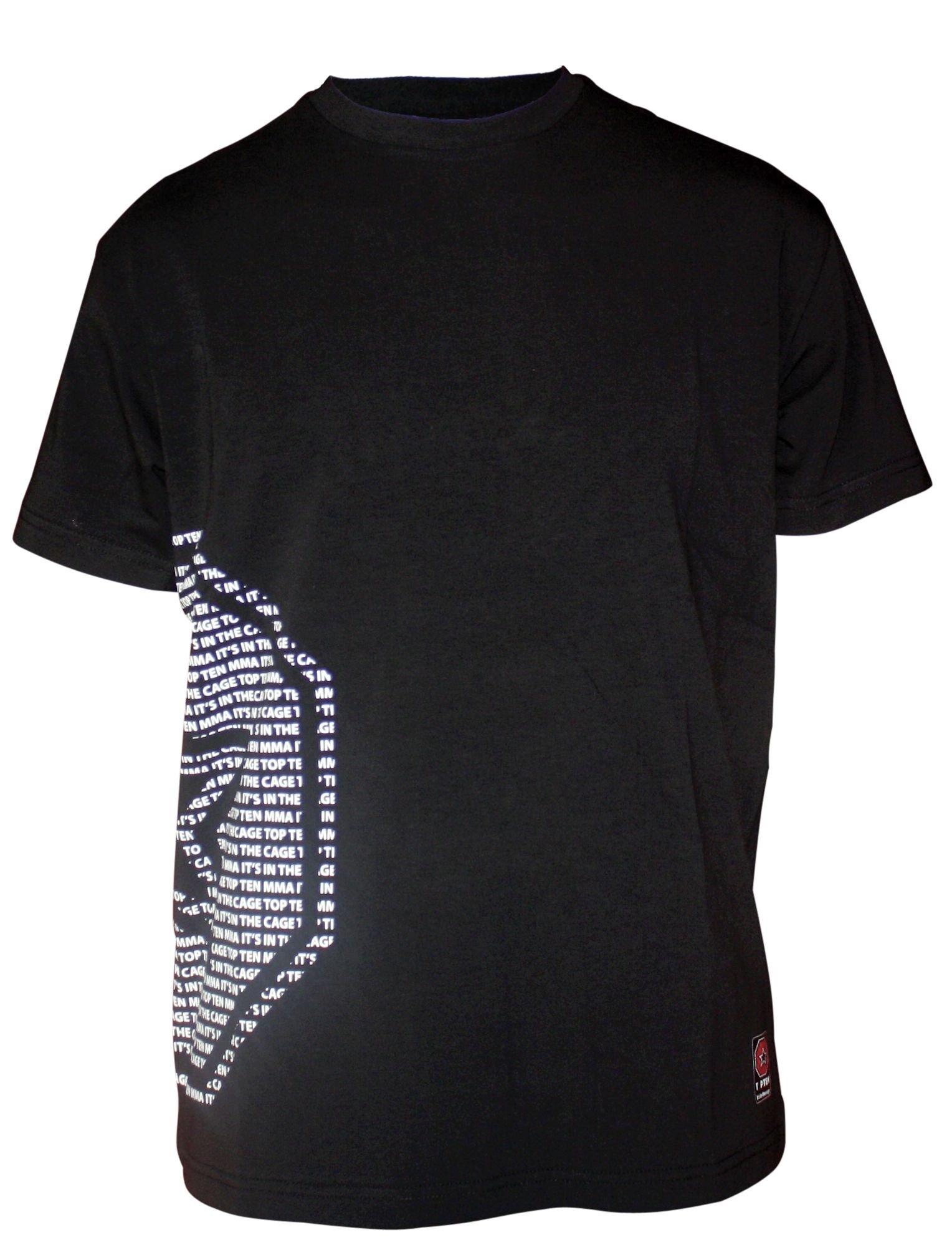 """TOP TEN MMA T-Shirt """"MMA Octagon Star"""" Zwart"""