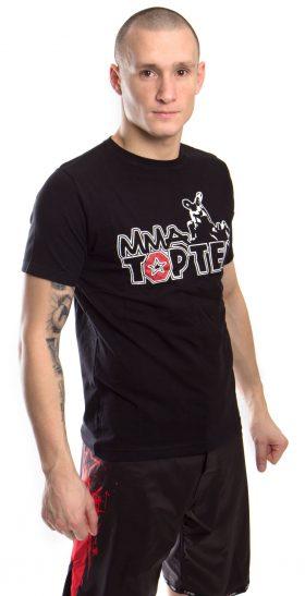 """T-Shirt """"Promo TOP TEN MMA"""" Zwart"""