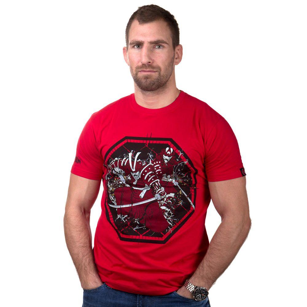 """TOP TEN MMA T-Shirt """"Samurai"""" Rood"""