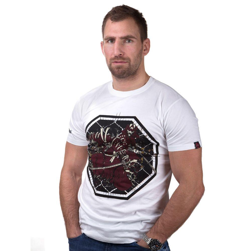 """TOP TEN MMA T-Shirt """"Samurai"""" Wit"""