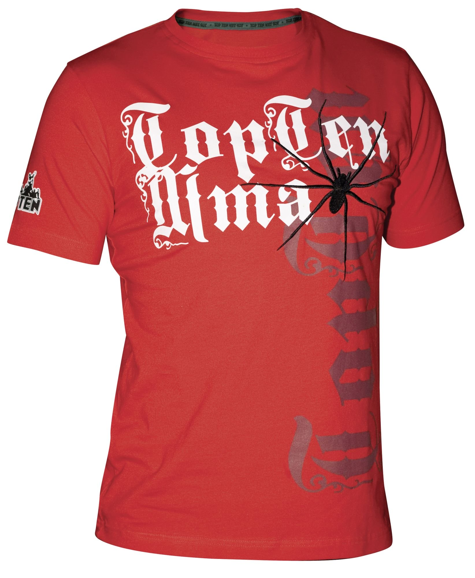 "TOP TEN MMA T-Shirt ""Spider"" Rood"