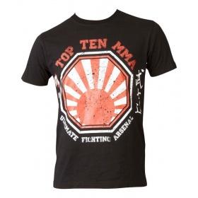 "TOP TEN MMA T-Shirt ""UFA Sunrise"" Zwart - rood"