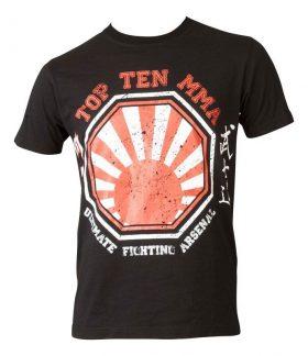 """T-Shirt """"UFA Sunrise"""" Zwart - rood"""