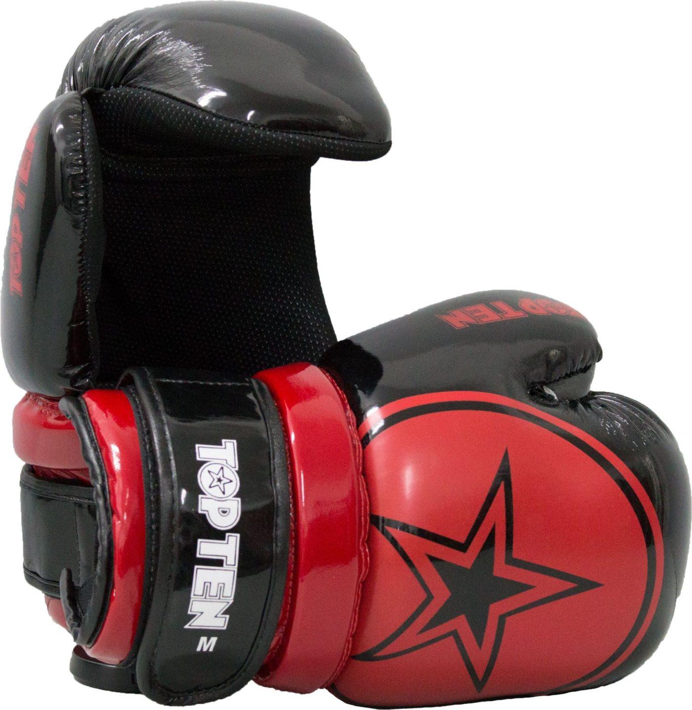 "Pointfighter ""Glossy Block Star"" Zwart - rood"
