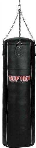 """TOP TEN Bokszak  Heavy Bag """"Genuine Leather"""" (gevuld) Zwart"""