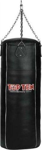 "Bokszak  Heavy Bag ""Genuine Leather"" (gevuld) Zwart"