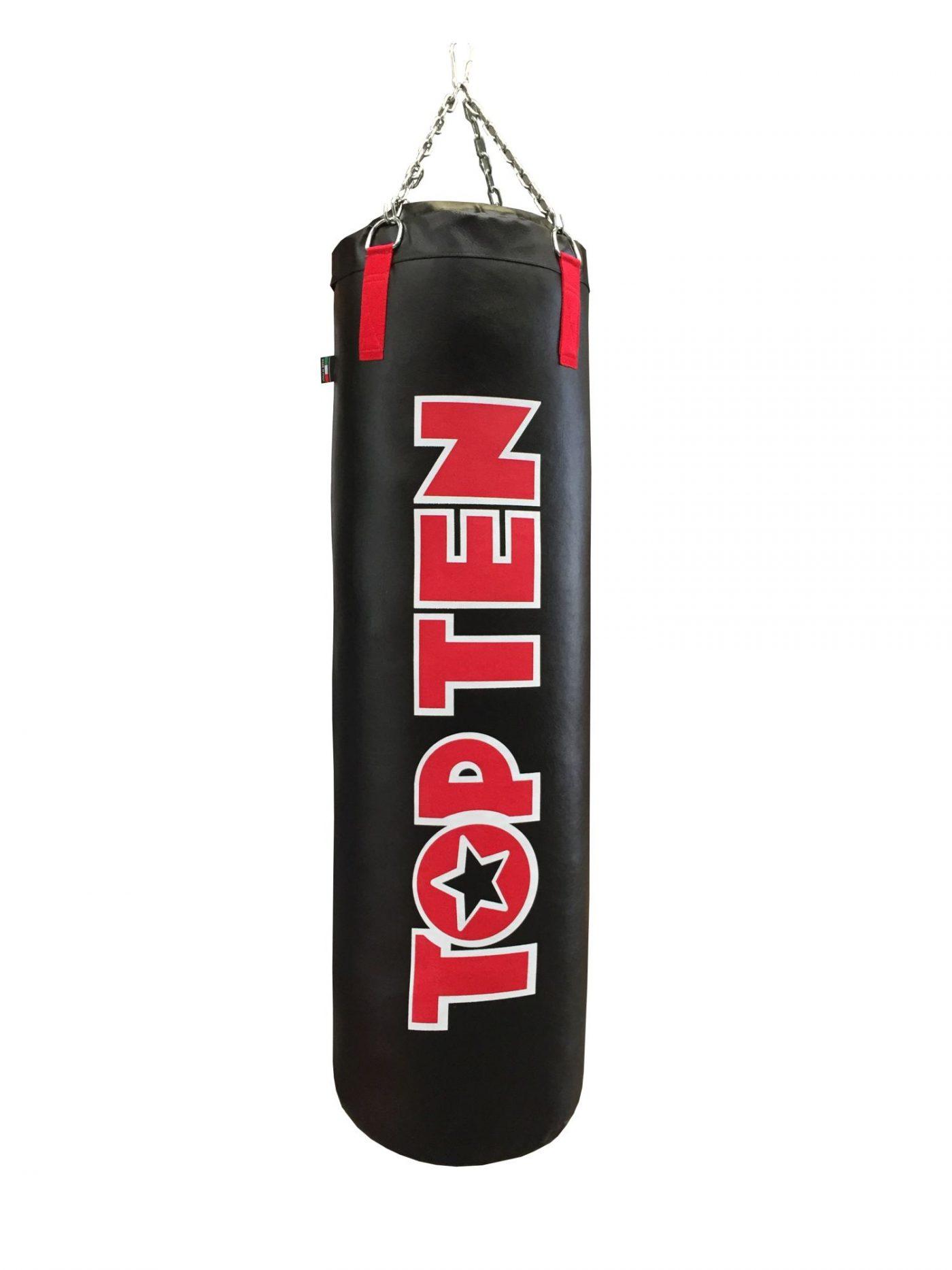 """TOP TEN Bokszak Heavy Bag """"TOP TEN"""" (gevuld) Zwart - rood"""