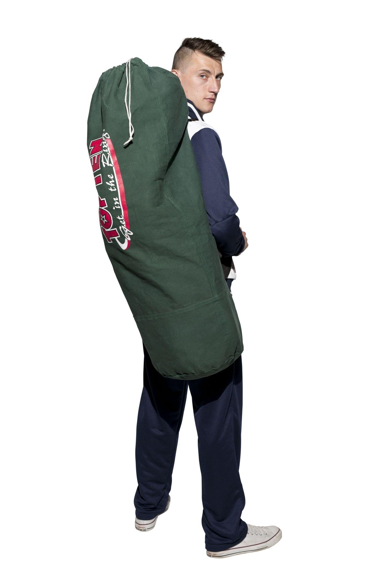 """TOP TEN Sailor's kit bag """"Get in the Ring"""" DarkGroen"""