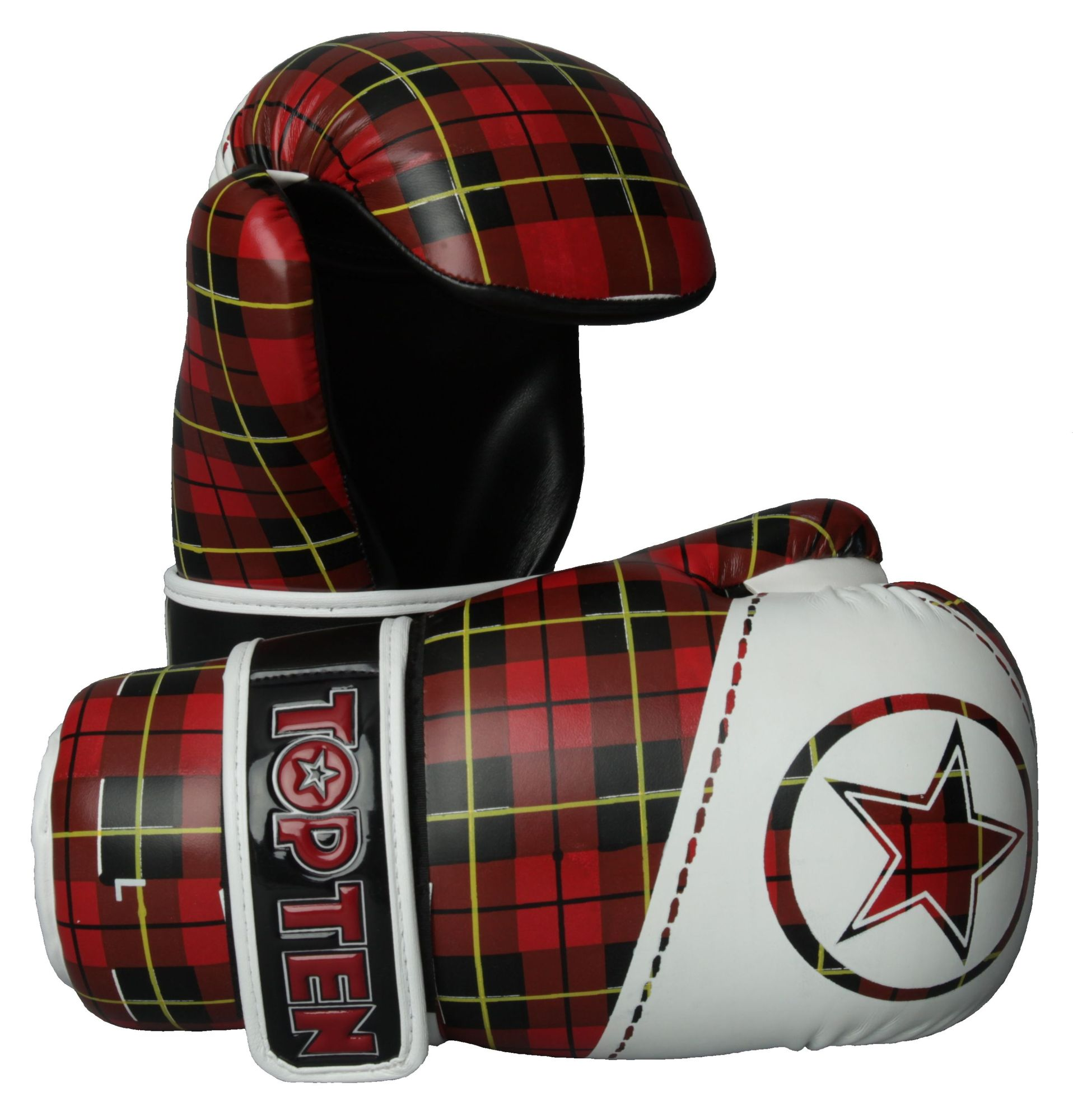 """TOP TEN Pointfighter """"Check"""" Wit - rood"""