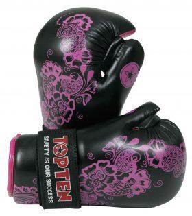"""Pointfighter """"Flowers"""" voor dames Zwart - Roze"""