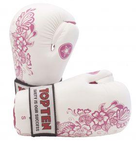 "Pointfighter ""Flowers"" voor dames Wit - Roze"
