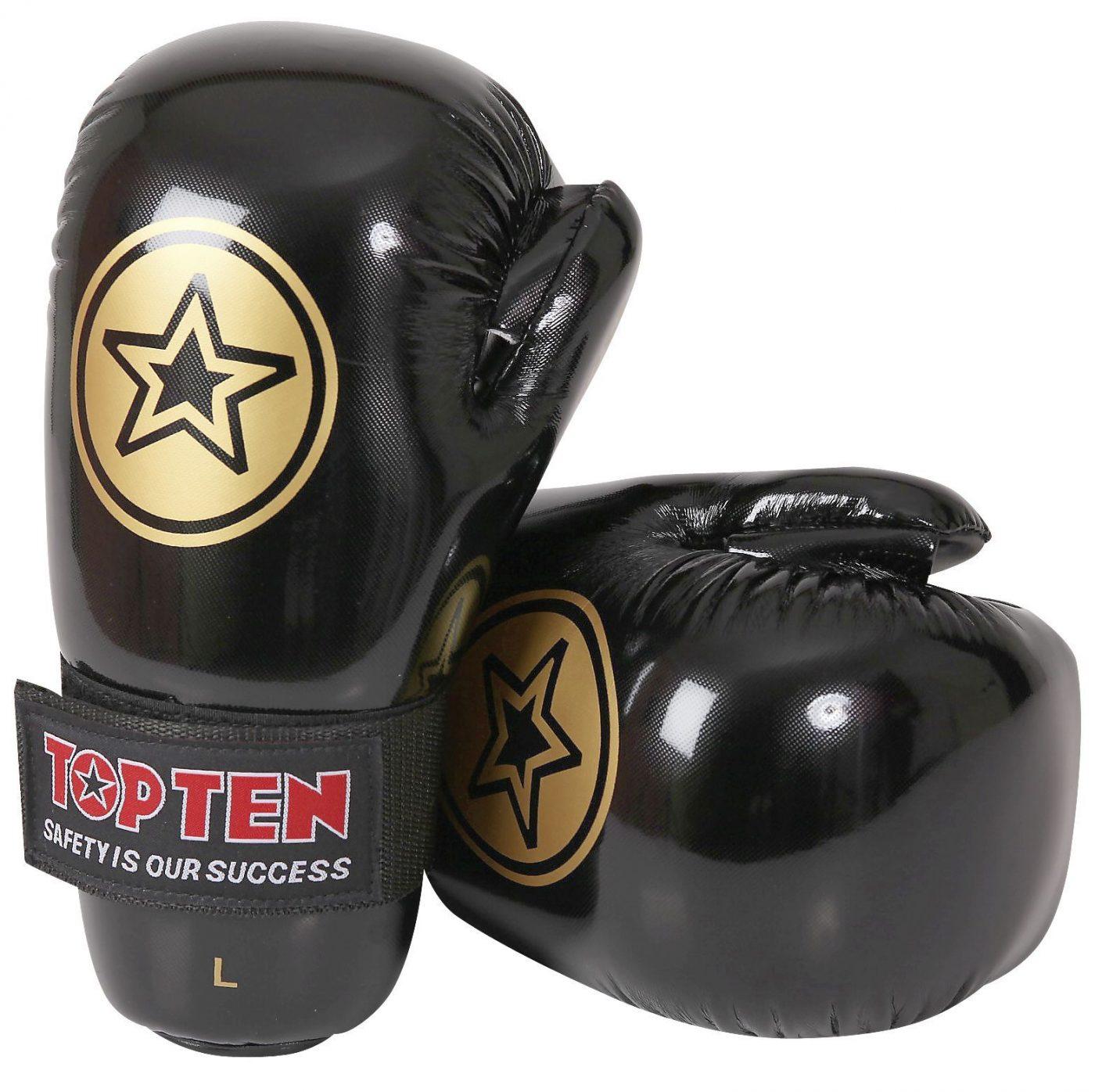 """TOP TEN Pointfighter """"Star Collection"""" Zwart - goud"""