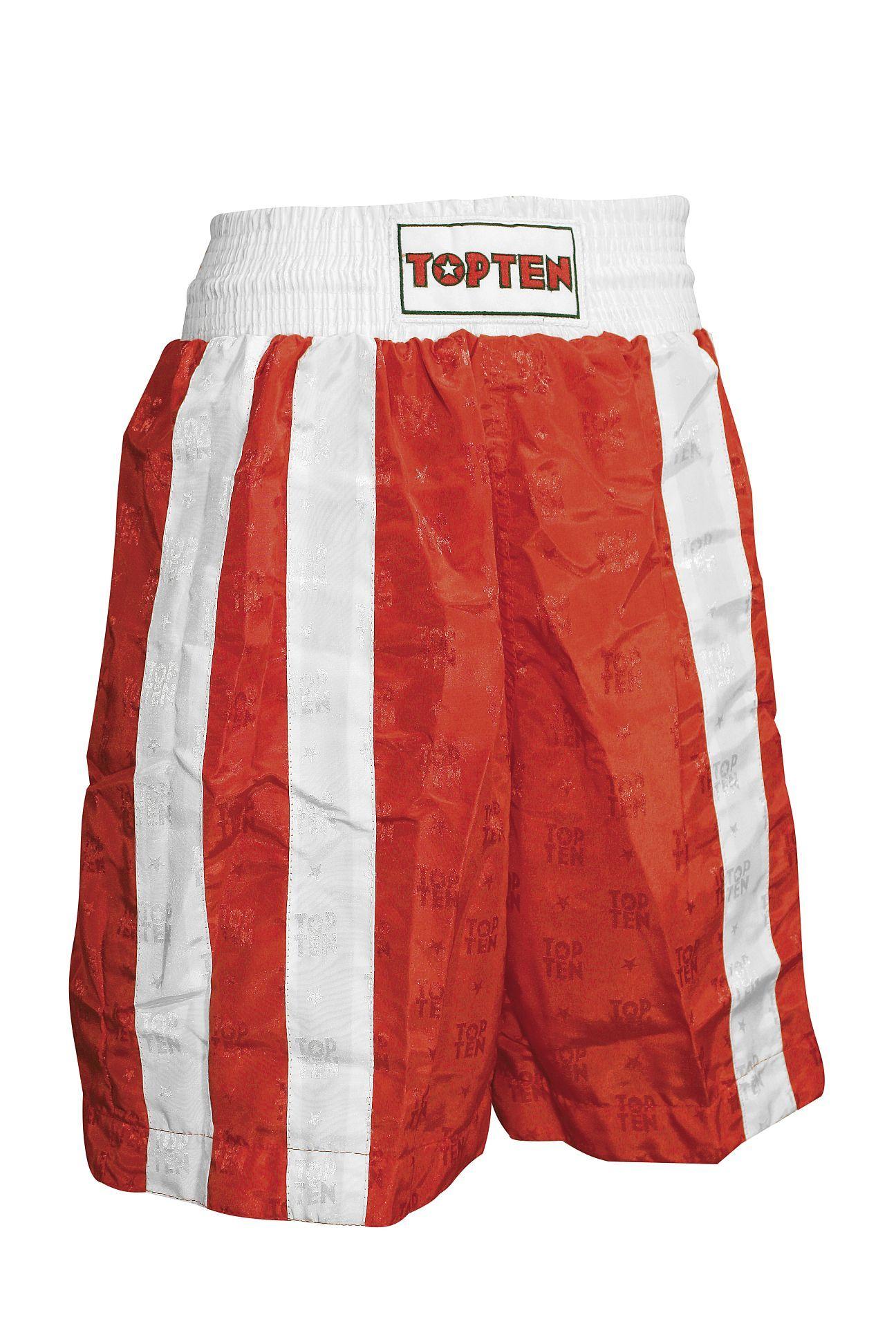 """TOP TEN Boksbroekje """"Two Stripes"""" Rood - Wit"""