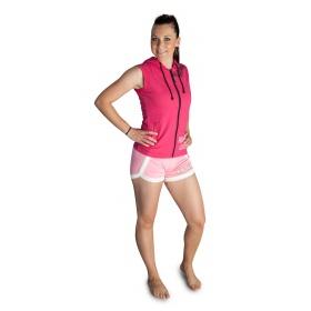 """TOP TEN Mouwloos hoodie voor dames """"Dangerous Girls"""" Roze"""