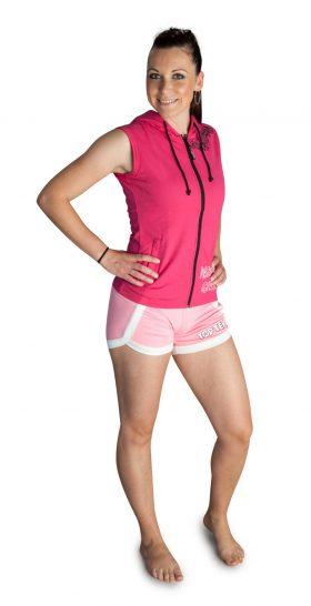 """Mouwloos hoodie voor dames """"Dangerous Girls"""" Roze"""