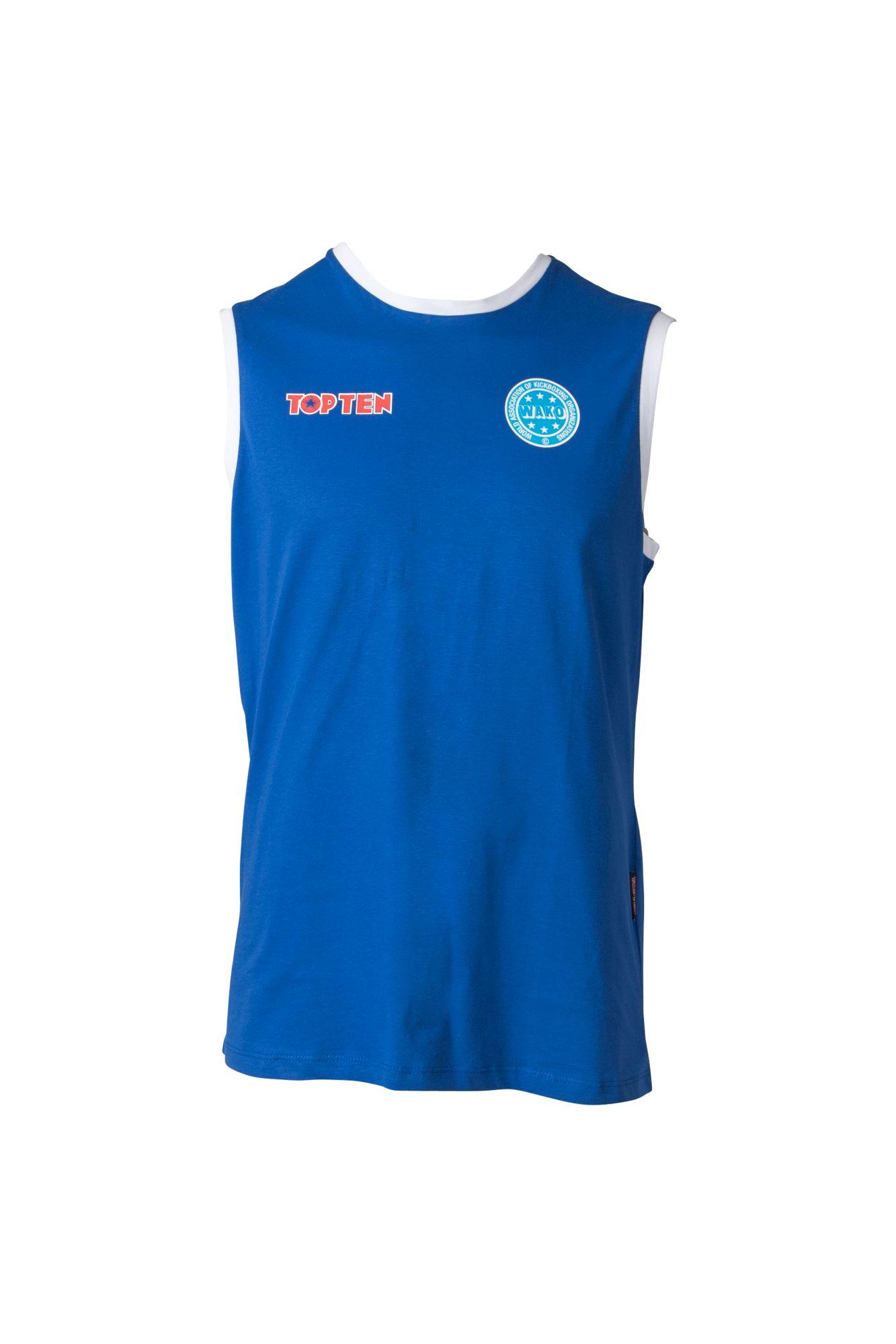 """Mouwloos T-Shirt """"WAKO"""" voor wedstrijden Blauw"""