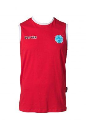 """Mouwloos T-Shirt """"WAKO"""" voor wedstrijden Rood"""