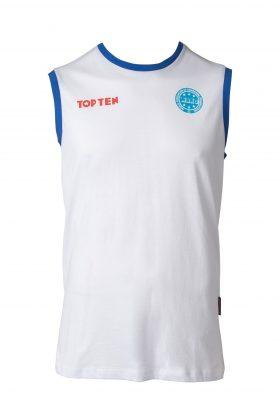 """Mouwloos T-Shirt """"WAKO"""" voor wedstrijden Wit"""
